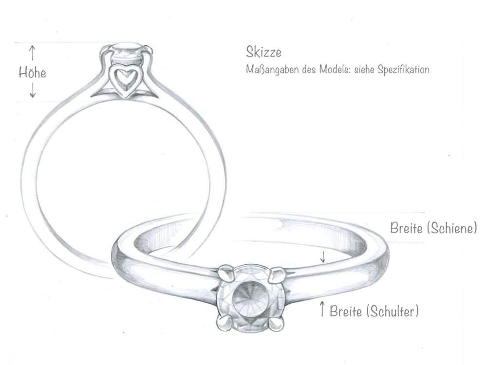 Verlobungsring Romance in Silber mit Diamant 0,25ct H/SI im Online Shop