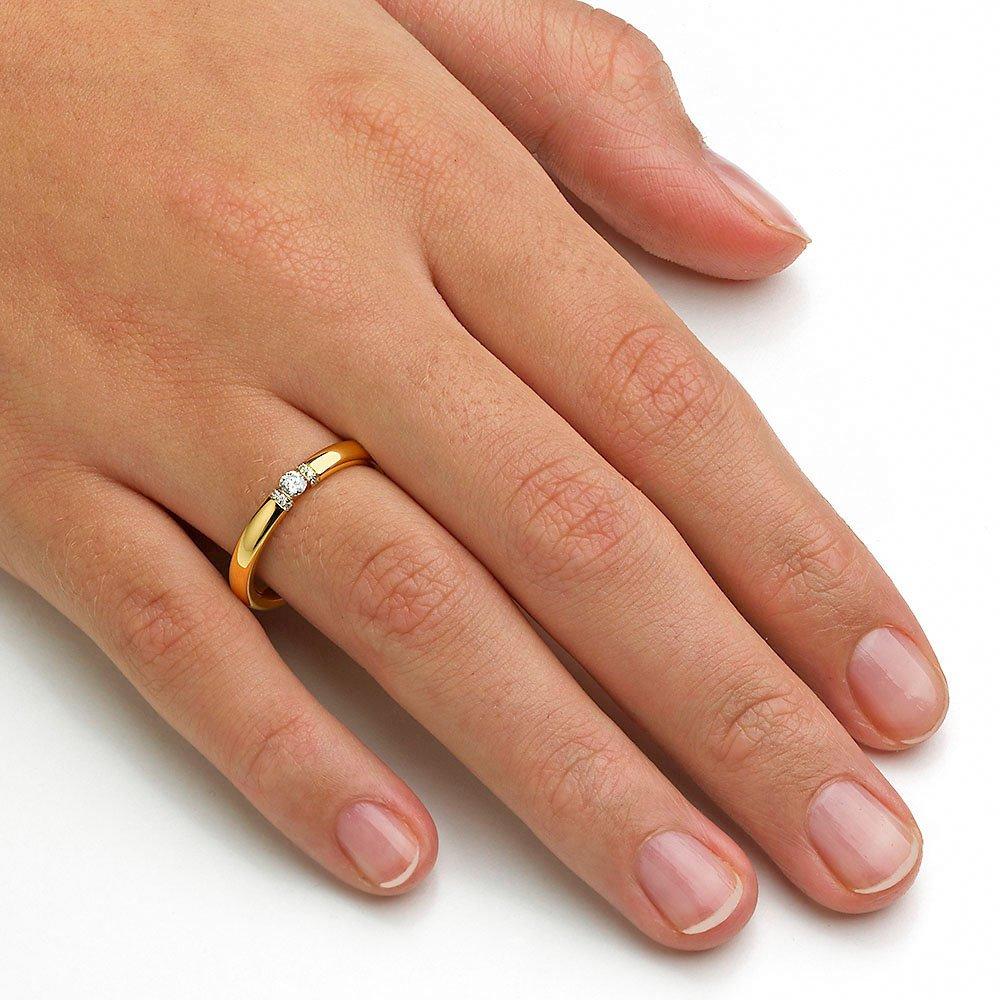 """Eheringe """"Diamond Star"""" in 8K Gelbgold beim Juwelier online"""