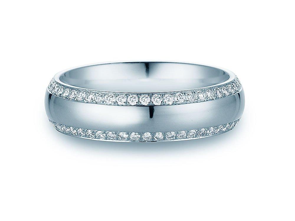 """Eheringe """"Life Lines"""" in Platin 950/- mit Diamanten 0,50ct beim Juwelier online"""