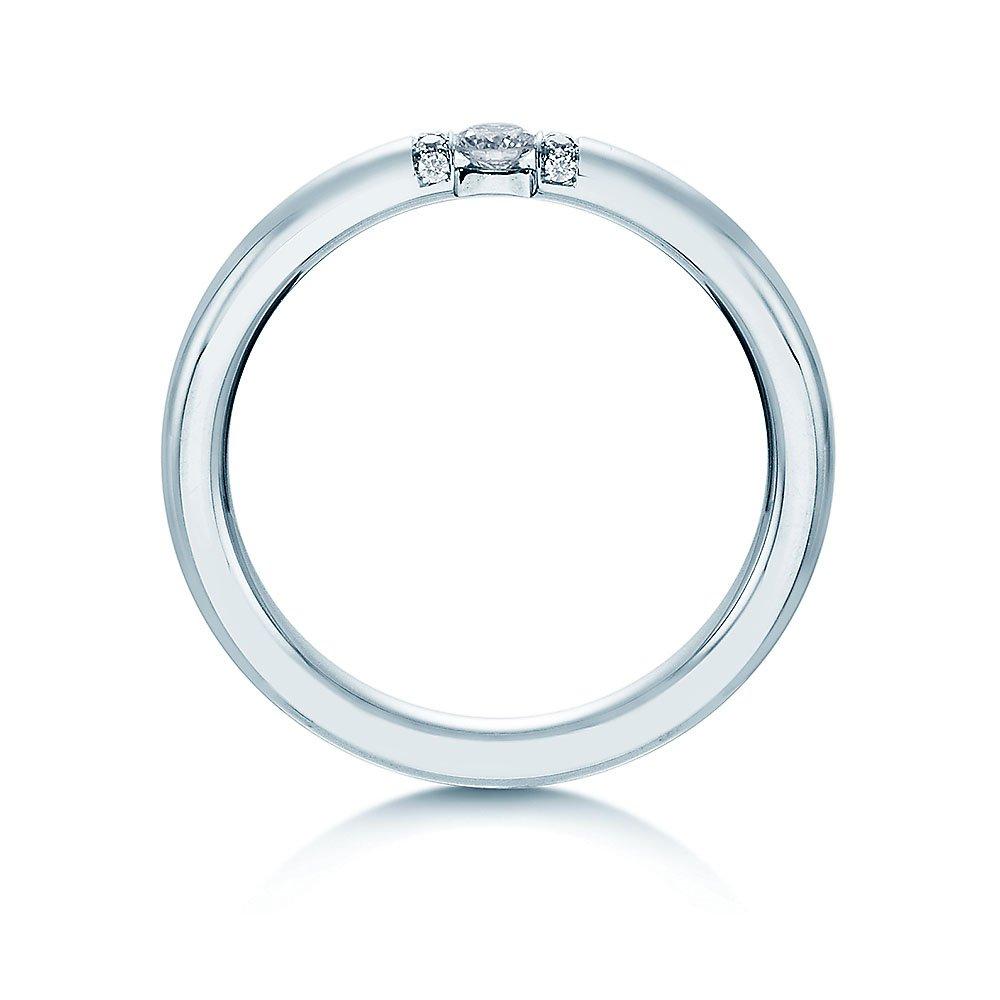 """Eheringe """"Diamond Star"""" in 8K Weißgold beim Juwelier online"""