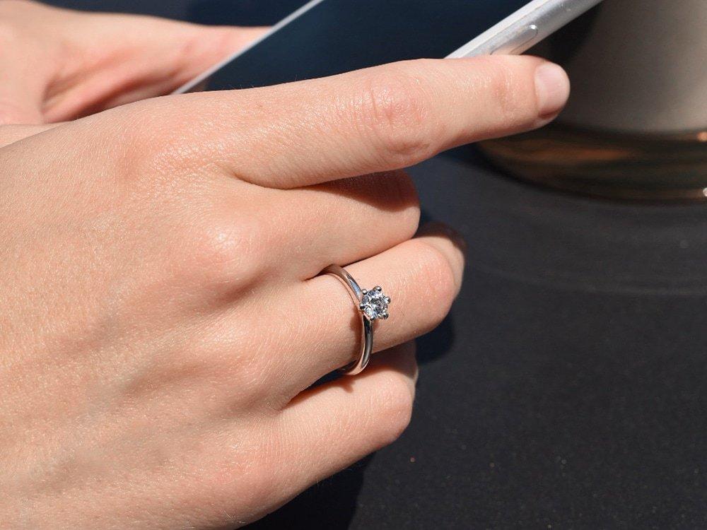Verlobungsring Classic in 18K Weißgold mit Diamant 0,50ct H/SI beim Juwelier online
