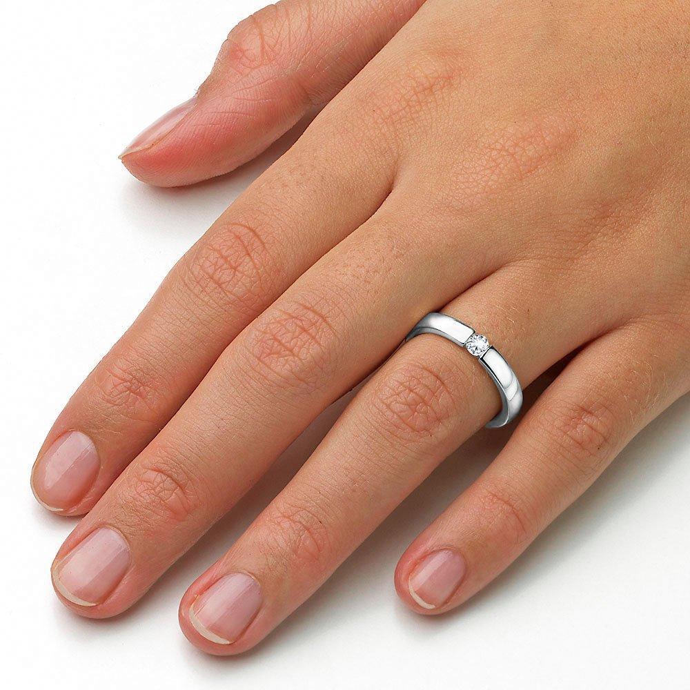 Verlobungsring Infinity in Silber und Diamant 0,15ct G/SI beim Juwelier online