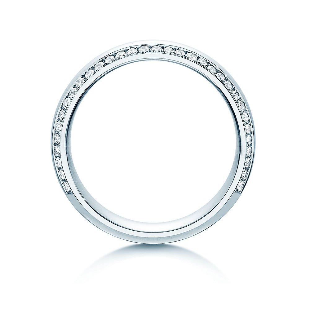"""Eheringe """"Life Lines"""" in Platin 950/- mit Diamanten 0,50ct handgefertigt"""