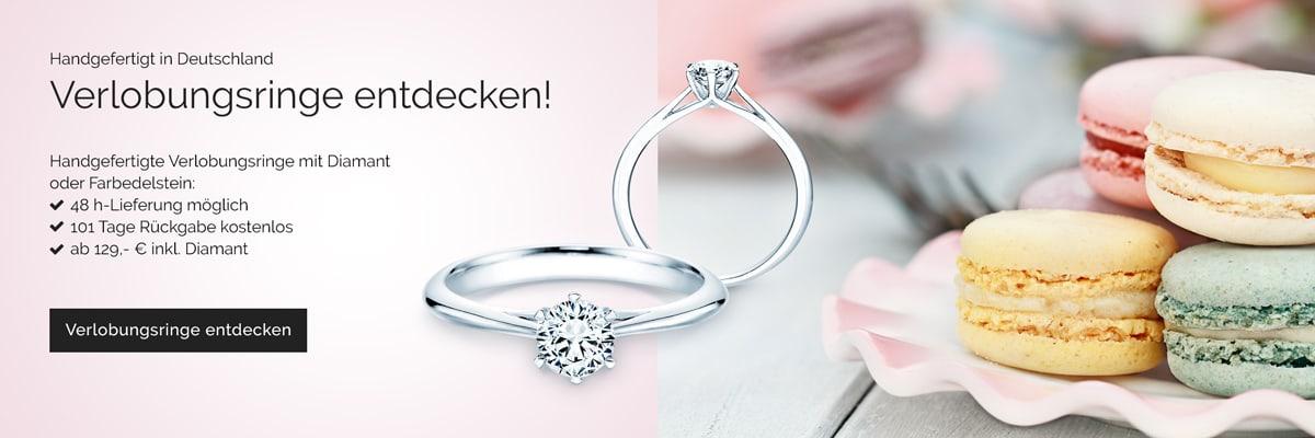 Verlobungsringe Diamant, Silber, Weißgold, Gelbgold, Platin. Verlobungsringe ohne Stein