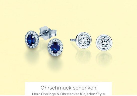 Ohrschmuck schenken – Ohrringe und Ohrstecker für jeden Style